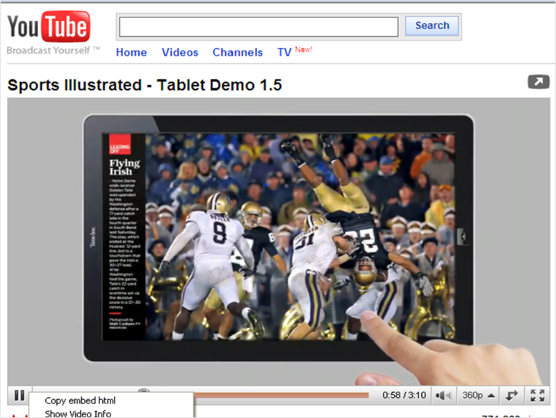Sports Illustrated on iPad