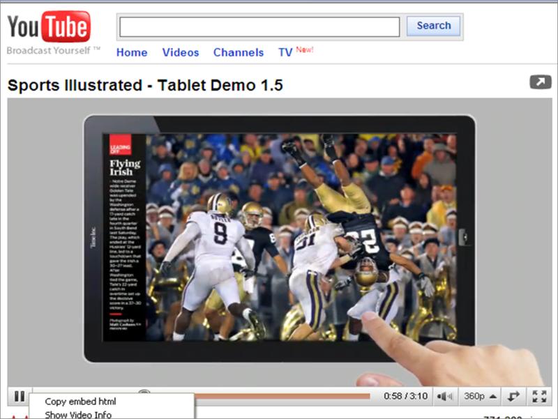 Sports Illustrated on iPad